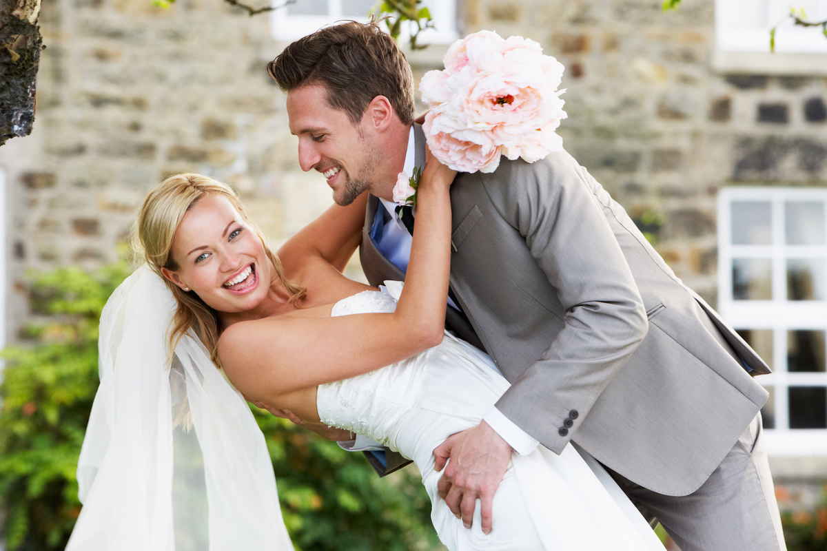remerciement avec journal de mariage