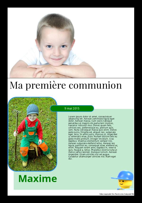 Créez votre propre journal modèle journal de communion | Happiedays