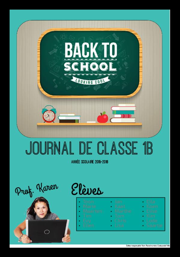 Créez votre propre journal modèle journal début d'année scolaire | Happiedays