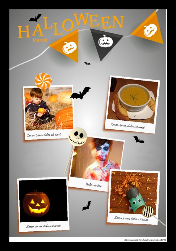 Créez votre propre journal modèle journal de Halloween | Happiedays