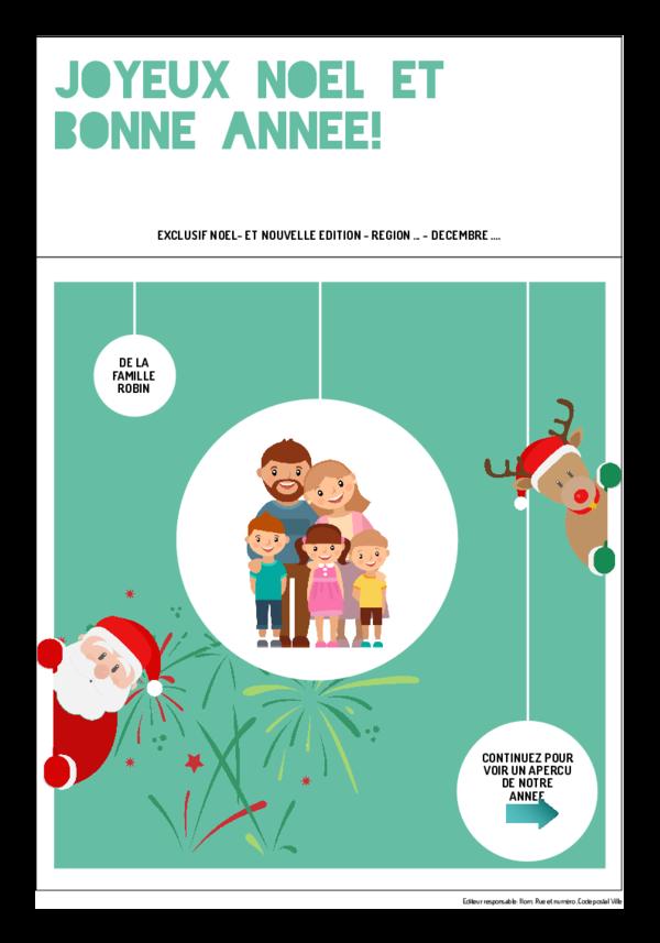 Créez votre propre journal modèle journal de Noël - Nouvel an | Happiedays