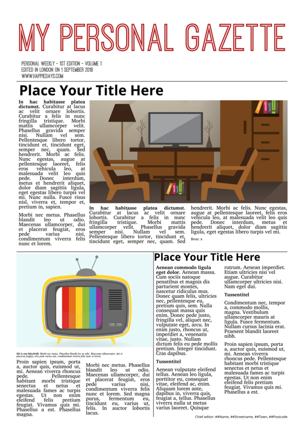 make a newspaper newspaper template layout - happiedays
